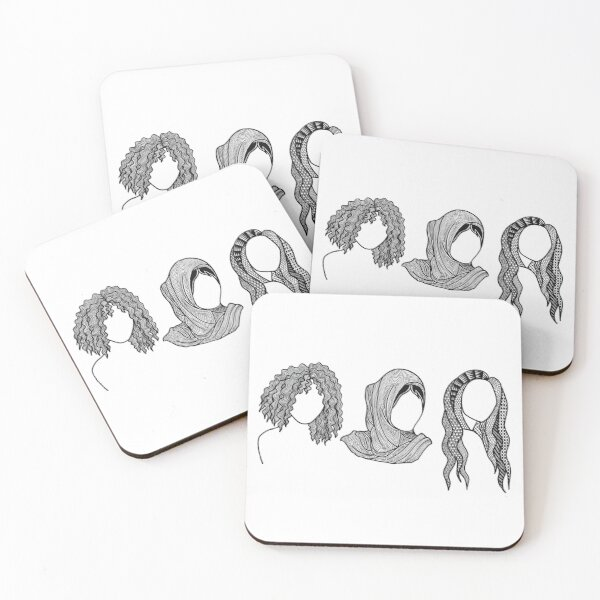 Three girls - everyday people Coasters (Set of 4)
