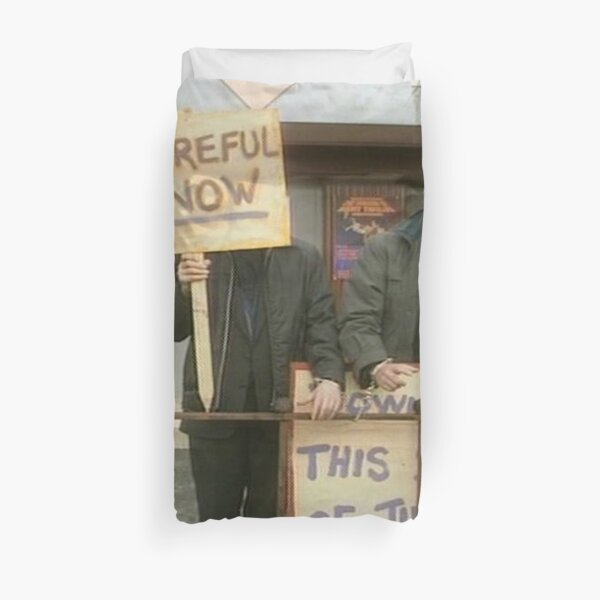 Down With Careful Father Ted Duvet Cover