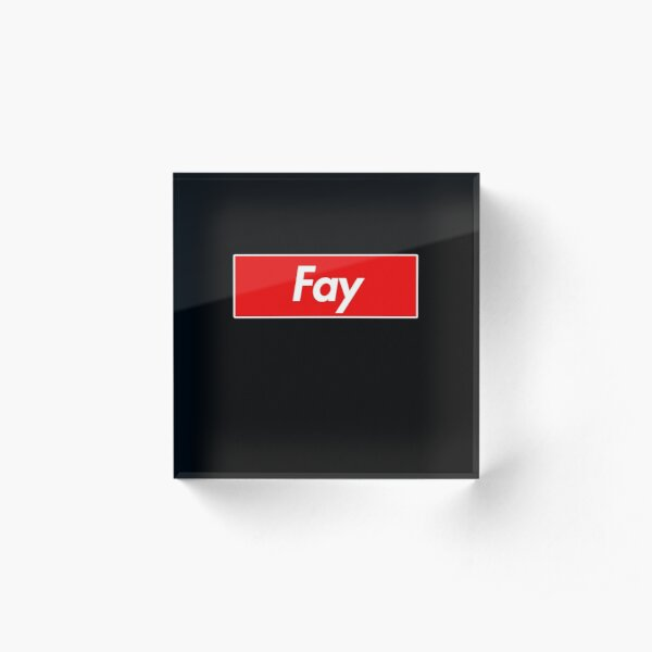 Fay Name Label - Gift For Female Named Fay Acrylic Block