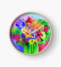Bright Bouquet Clock