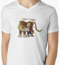 calvin and hobbes Men's V-Neck T-Shirt