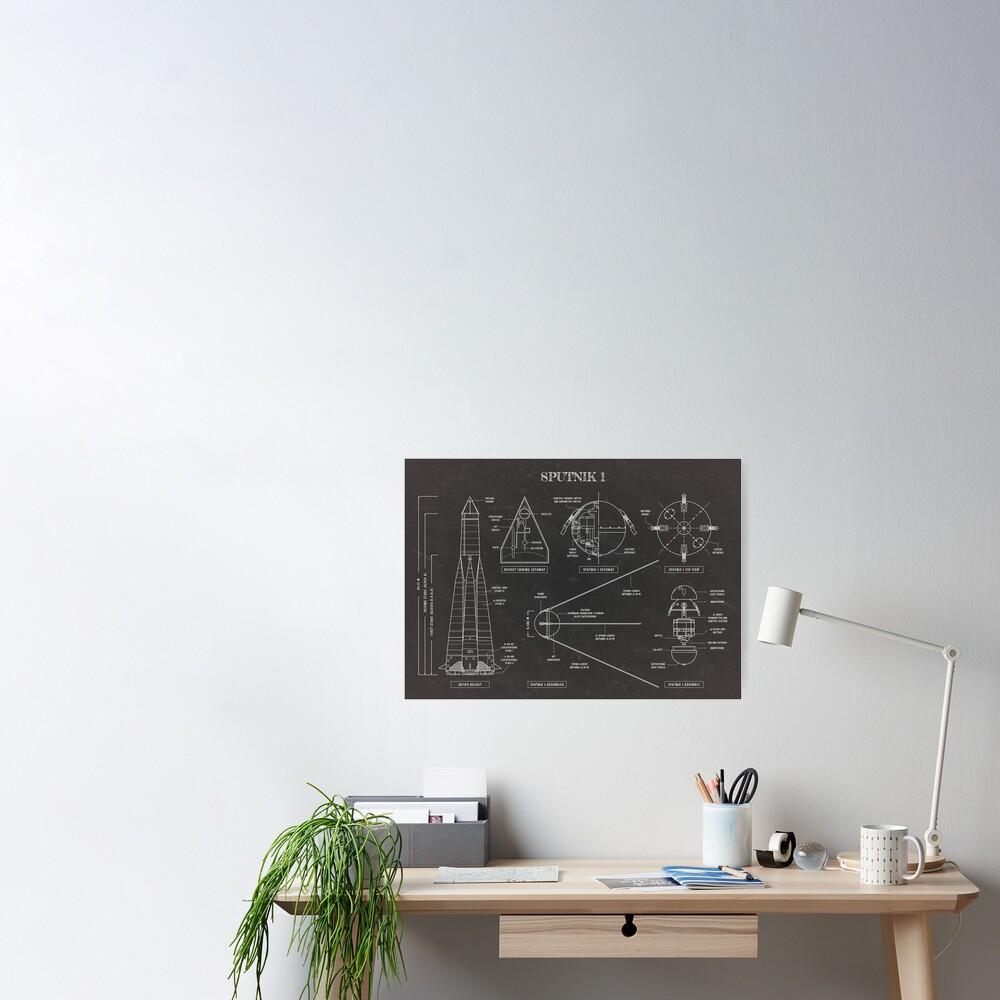 Sputnik (Blackboard) Poster