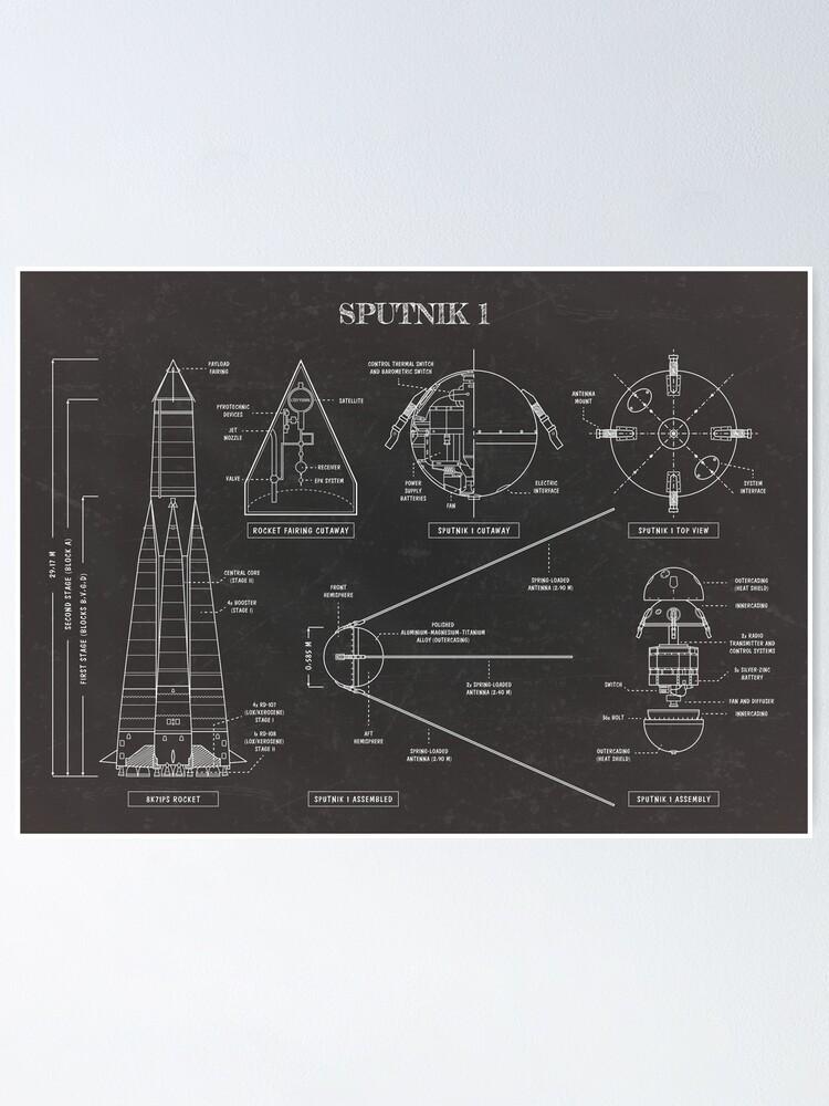 Alternate view of Sputnik (Blackboard) Poster