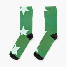 Star with Green Background Sock