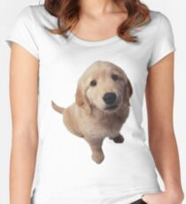 Puppy! Women's Fitted Scoop T-Shirt