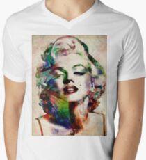 Marilyn Monroe Urban Art Men's V-Neck T-Shirt