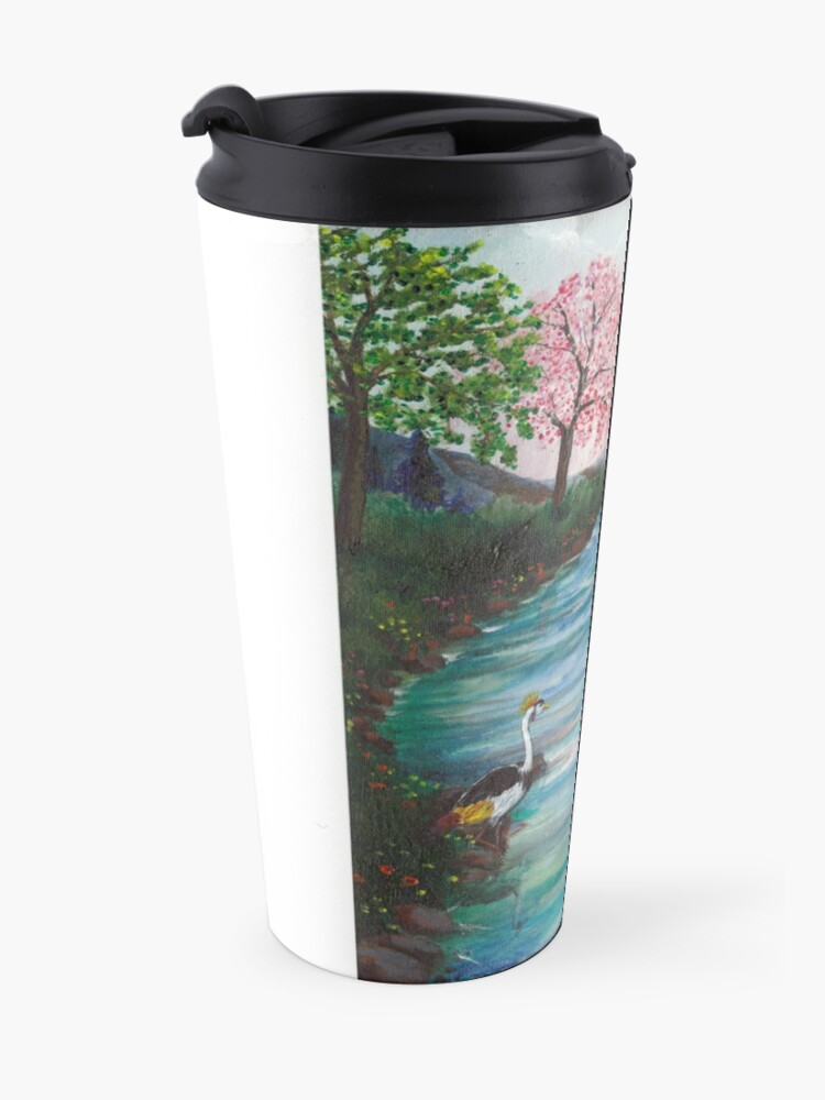 Alternate view of Gazebo with Lady in Red Travel Mug