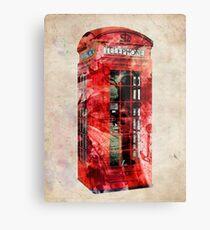 London Telephone Box Urban Art Metal Print