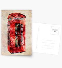 London Telephone Box Urban Art Postcards
