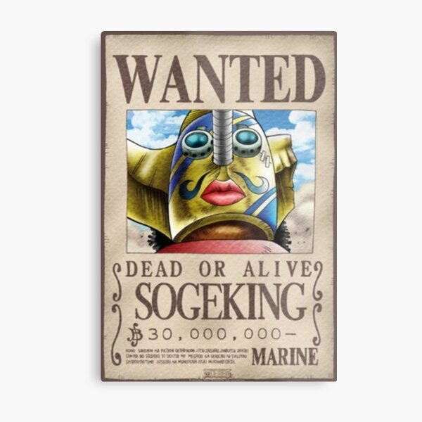 Usopp first wanted poster Metal Print