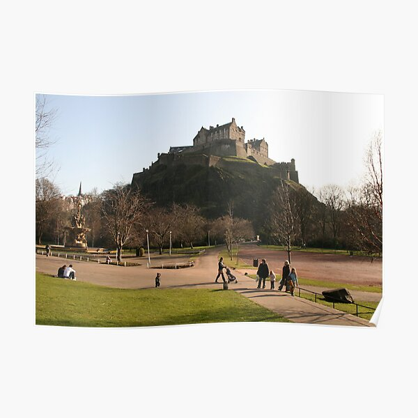 Edinburgh Castle from Prince's Street Gardens Poster