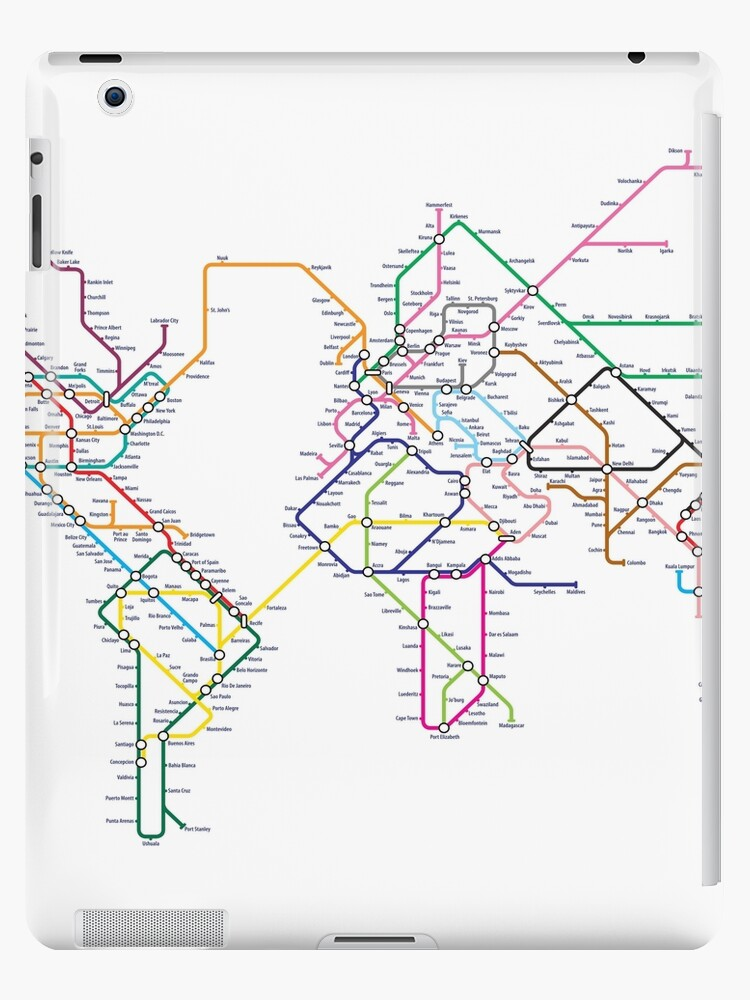 World Tube Metro Map Ipad Cases Skins By Michael Tompsett Redbubble