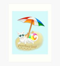 The Purrfect Day Art Print