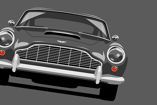 Aston Martin DB5 by Michael Tompsett
