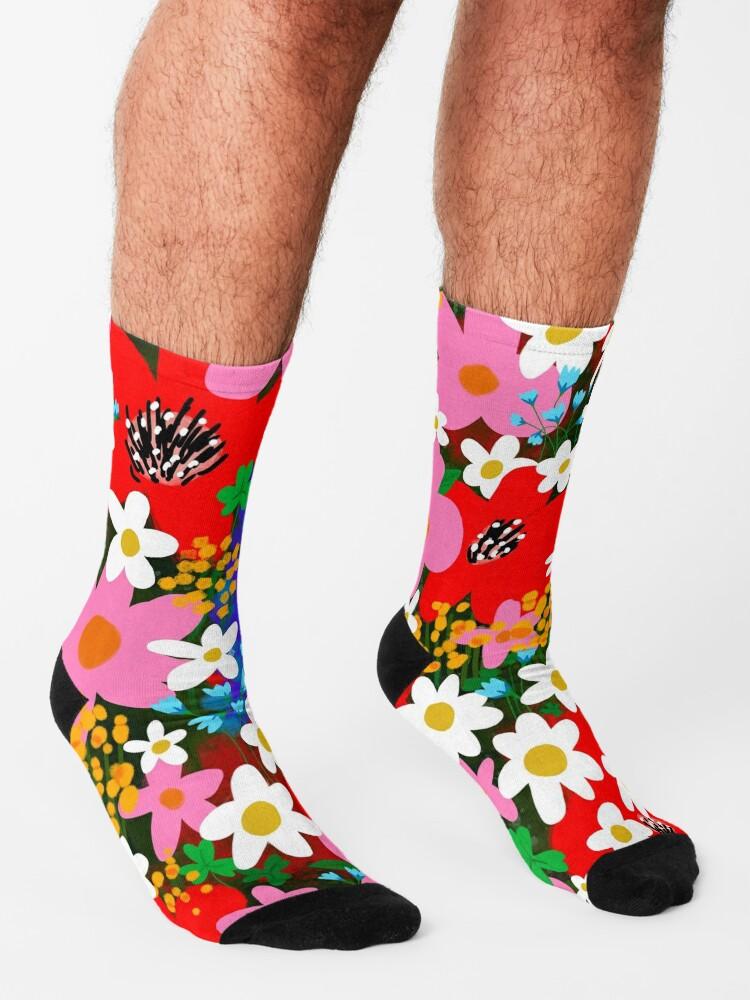 Alternate view of Flower Power! Socks