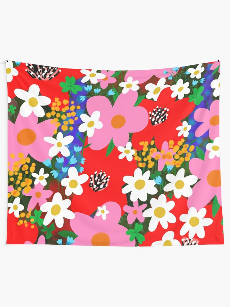 Flower Power Tapestry By Theloveshop Redbubble