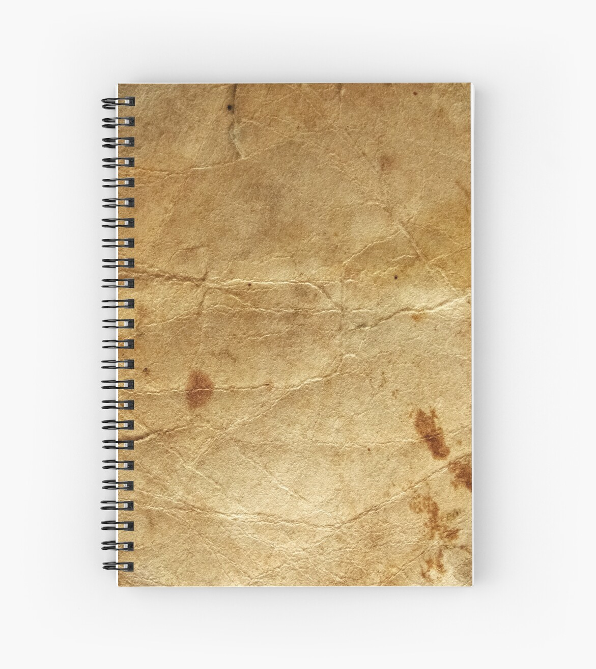 quotold paper texturequot spiral notebooks by ev1lcat redbubble