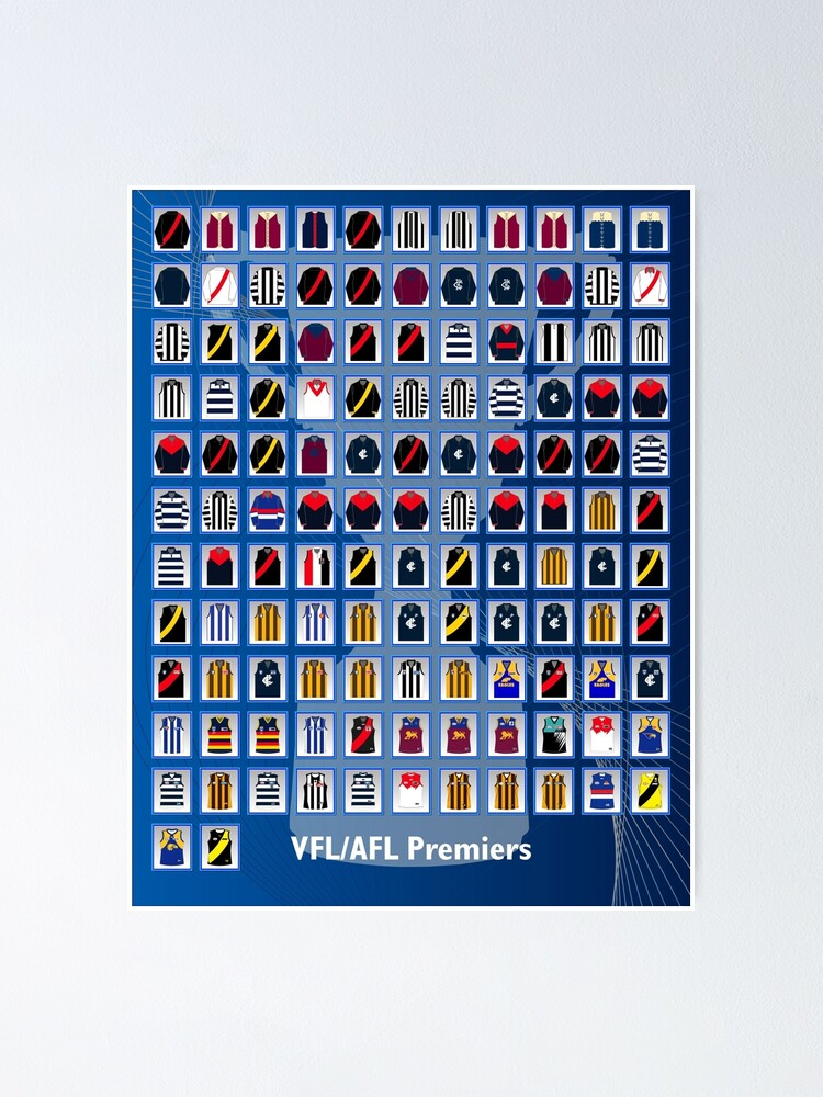 Alternate view of VFL - AFL Premiers Poster