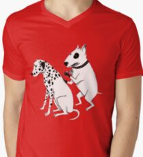 Pittbul tattooing Dalmatian Men's V-Neck T-Shirt