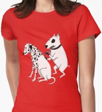 Pittbul tattooing Dalmatian Women's Fitted T-Shirt