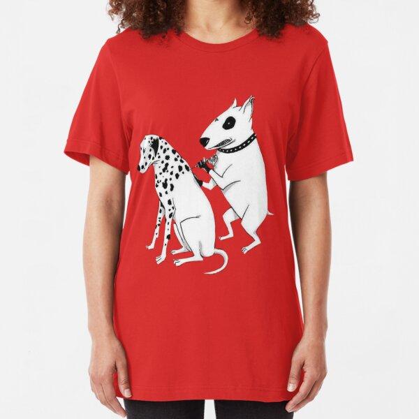 Pittbul tattooing Dalmatian Slim Fit T-Shirt