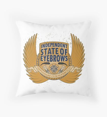 Independent State Of Eyebrows Throw Pillow