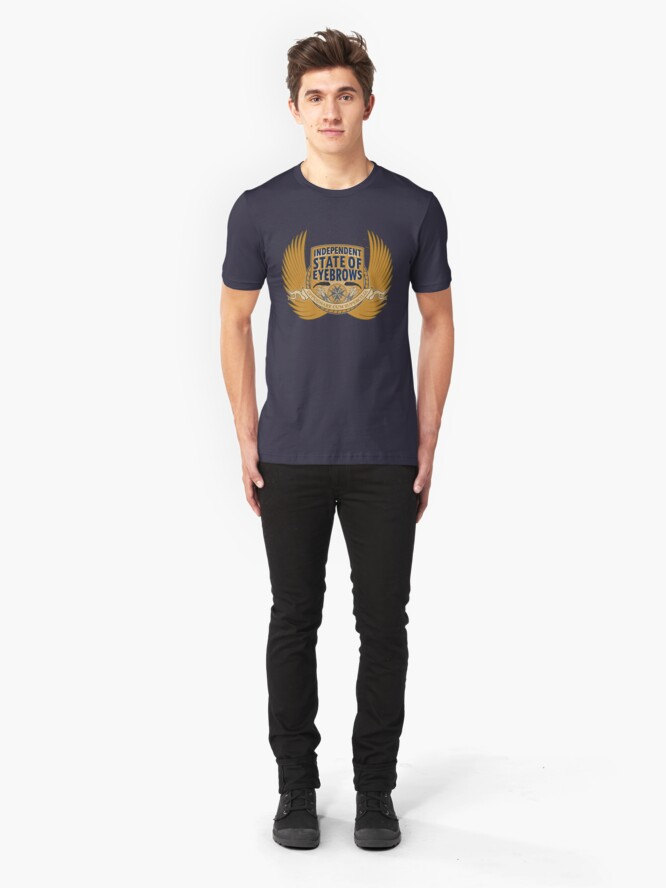 Alternate view of Independent State Of Eyebrows Slim Fit T-Shirt
