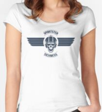 Sportster Sickness Plain White Women's Fitted Scoop T-Shirt