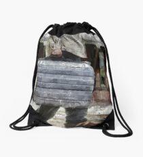 Traveling Man Drawstring Bag