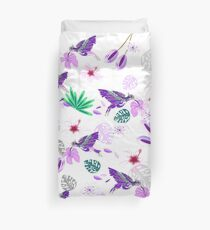Humming bird floral pattern Duvet Cover