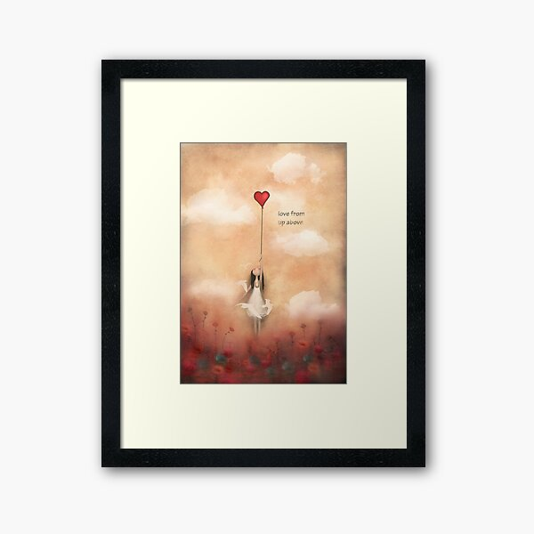 loVe from up above Framed Art Print