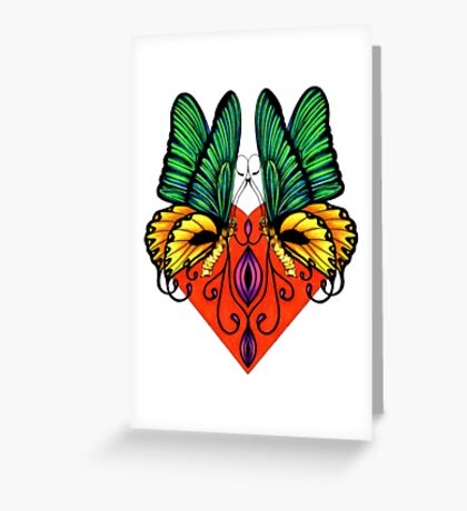 Winged Beauty Greeting Card