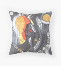 snake shaman Throw Pillow