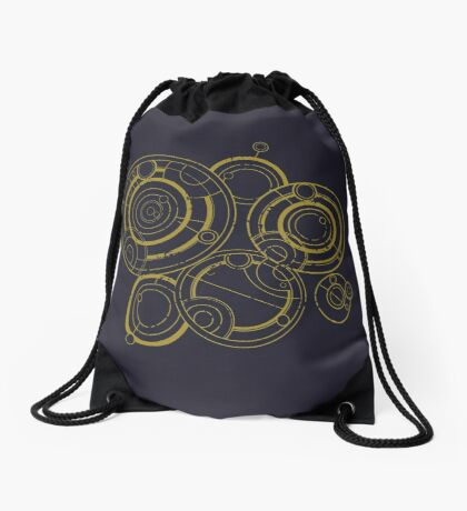 A Cirular Melody Drawstring Bag