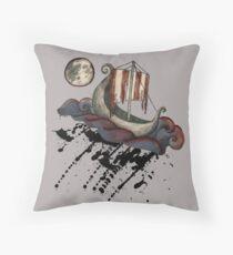 Lunar Viking Voyage Throw Pillow