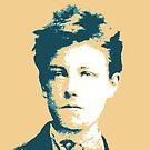 Arthur Rimbaud Knickenten-Gelb-Porträt von savantdesigns