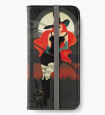 Beautiful Witch with a black Cat iPhone Wallet/Case/Skin