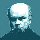 Paul Verlaine Blue Portrait von savantdesigns