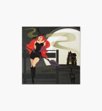 Pretty Witch. Halloween night. Art Board Print