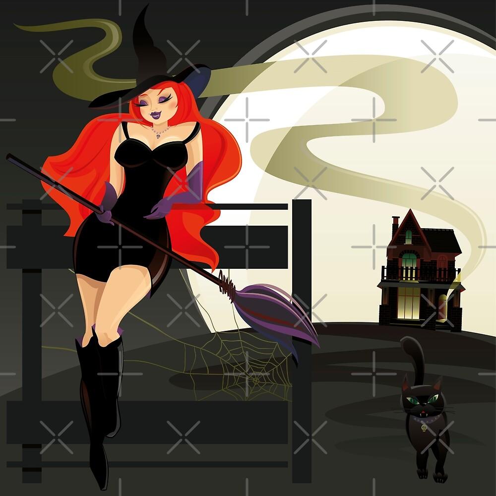 Pretty Witch. Halloween night. by rusanovska