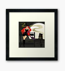 Pretty Witch. Halloween night. Framed Print
