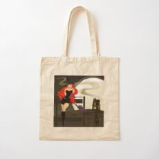 Pretty Witch. Halloween night. Cotton Tote Bag