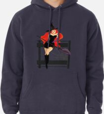 Pretty Witch. Halloween night. Pullover Hoodie