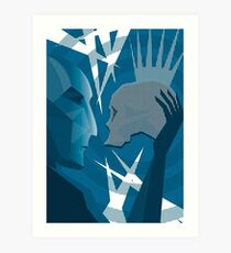 Hamlet and Yorick Art Print