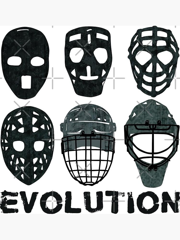 Hockey Goalie Mask Evolution Canvas Print By Gamefacegear Redbubble