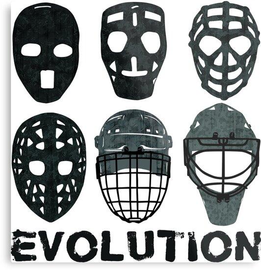 60a798ba3 Hockey Goalie Mask Evolution.