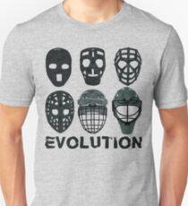 Hockey Goalie Mask Evolution. T-Shirt