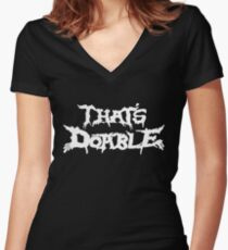 That's Doable Women's Fitted V-Neck T-Shirt
