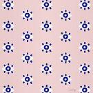 Evil Eye Dots - Dunkelblaue & Rouge-Palette von Cat Coquillette