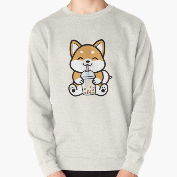 Shiba Loves Bubble Tea! Pullover Sweatshirt